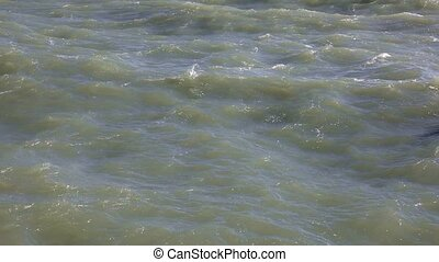 Stormy sea water surface close up