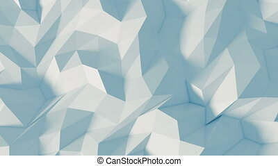Polygon 3d background - Digital animation - 3D ANIMATED...