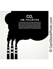 Air pollution3-01.eps - Air pollution. Factory or power...