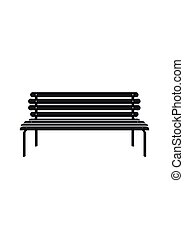 Bench icon isolated on white background. Park vector icon...