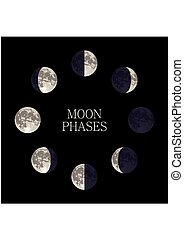 Moon phases2-01.eps - Moon phases night space astronomy and...