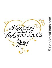 Valentin day - Happy Valentine's Day vintage lettering and...