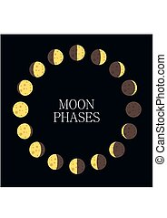 Moon phases4-01.eps - Moon phases icon night space astronomy...