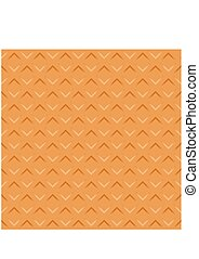 Wafer seamless texture background. Pattern Vector