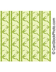 Bamboo Pattern. Tropical seamless nature. Vector - Bamboo...