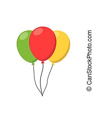 Colorful Balloons carnival helium string. For birthday party anniversary celebration.