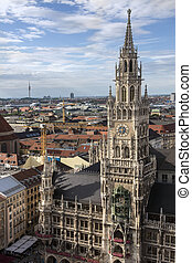 The Rathaus - Munich - Germany - The Rathaus or New Town...