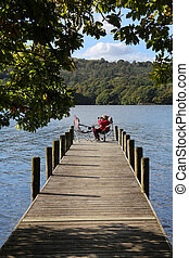 Relaxing by Lake Windermere - Lake District - England -...