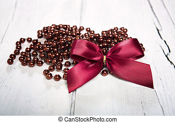 Christmas red decoration. - Christmas decoration. Red ball...