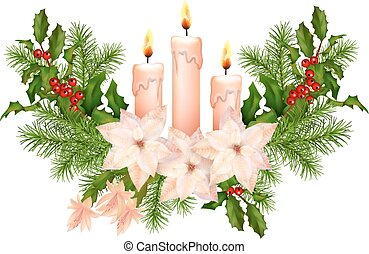 Christmas Decorations Vector - Vector Christmas decorations....