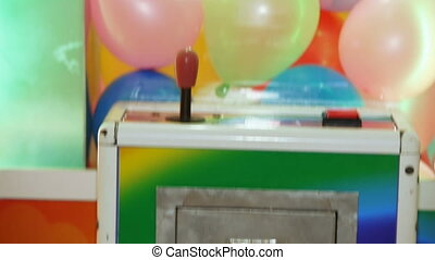 Baloons attraction on playroom - Baloons attraction...