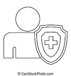 Medical insurance concept icon, outline style - Medical...