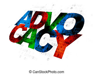 Law concept: Advocacy on Digital background - Law concept:...