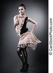 beautiful glamour woman posing in studio
