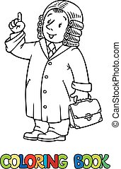 Funny judge Coloring book - Coloring picture or coloring...