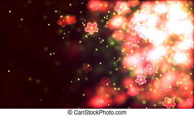 Valentine's day abstract background, flying flowers