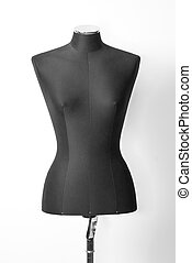Clothing mannequin isolated on the white