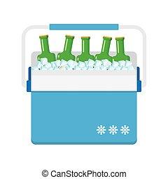 freezer-bag in blue color. vector illustration