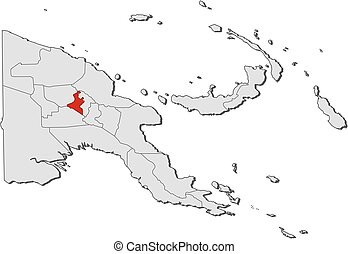 Map - Papua New Guinea, Western Highlands - Map of Papua New...