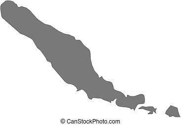 Map - Choiseul (Solomon Islands) - Map of Choiseul, a...