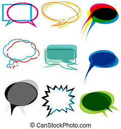speech and thought balloons - A set of vector speech and...