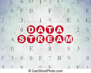 Data concept: Data Stream on Digital Data Paper background -...