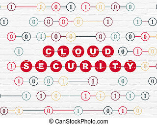 Safety concept: Cloud Security on wall background