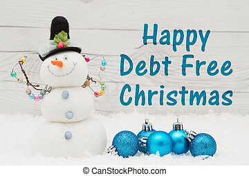 mensaje, deuda, libre