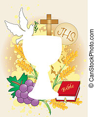 first communion - Symbolic illustration for the first...