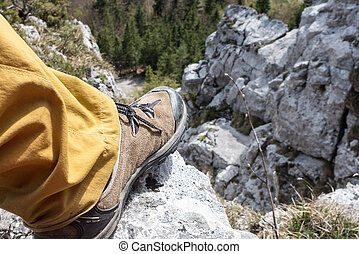 Hiking shoes on tour