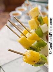 shashlik from fresh fruits