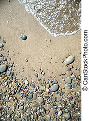 sand stones and water wave