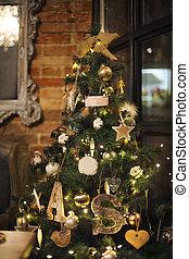 Christmas tree and Christmas decorations