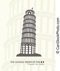 figure leaning tower of Pisa in Italy
