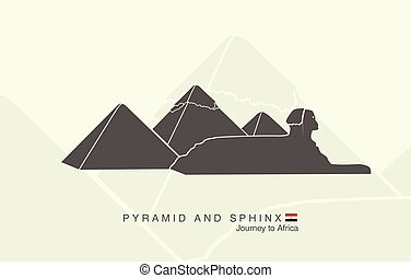 pyramids of Giza and the Sphinx - shapes of the pyramids of...