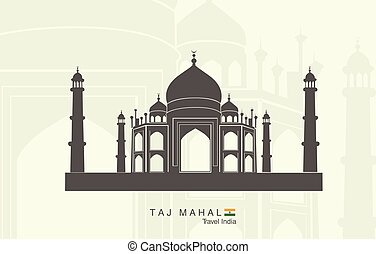 Taj Mahal in India - Illustration of isolated the Taj Mahal...