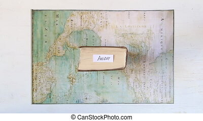 Holiday, Travel or Vacation idea. Map created by Claude...