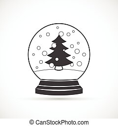 Snowball vector icon - Snowball icon on white background