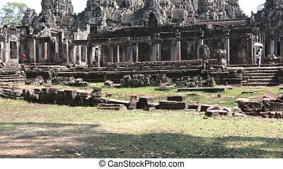 Ancient Bayon Temple At Angkor Wat, Siem Reap, Cambodia