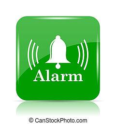 Alarm icon. Internet button on white background.