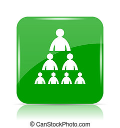 Organizational chart with people icon. Internet button on...