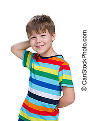 Cute young boy - A cute young boy on the white background