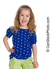 Naughty little girl - A portrait of a naughty little girl on...