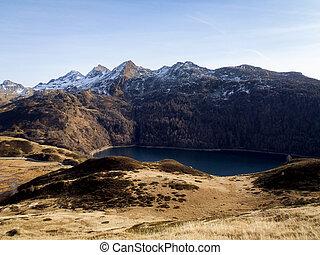 Lakes Ritom, Cadagno, Tom in the autumn - Val Piora,...