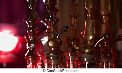Hookahs in red light - Hookahs in a red light