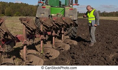 Farmer checked six meters plow