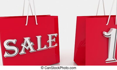 Shopping bags with inscription sale and 10 percents