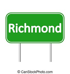 Richmond green road sign. - Richmond green road sign...