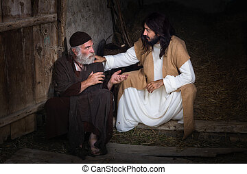Jesus healing the blind - Jesus healing the lame or crippled...