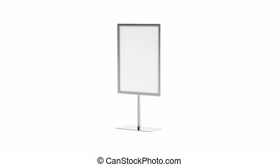 Silver advertising stand